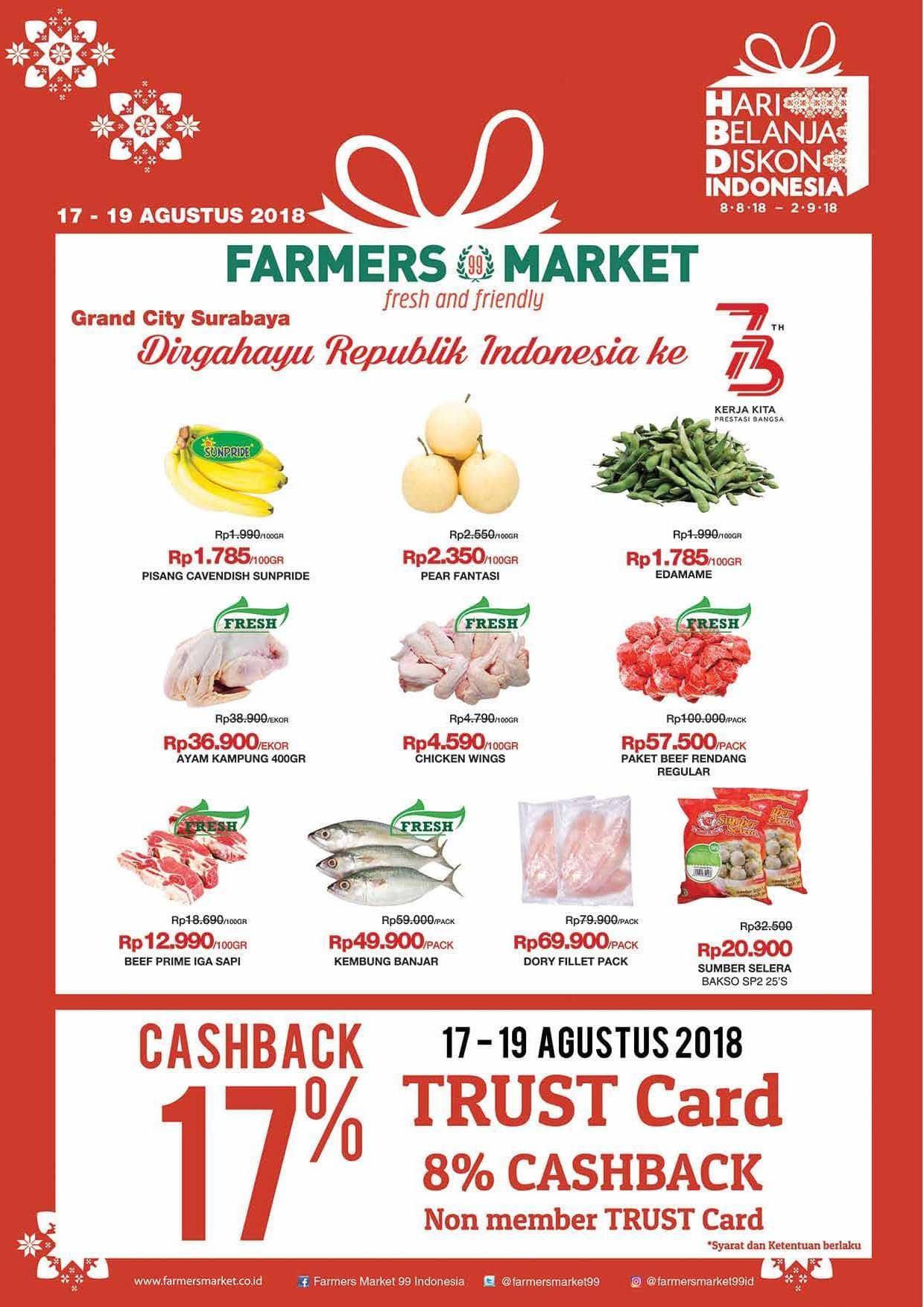 Katalog Promo Akhir Pekan Terbaru Farmers Market Surabaya