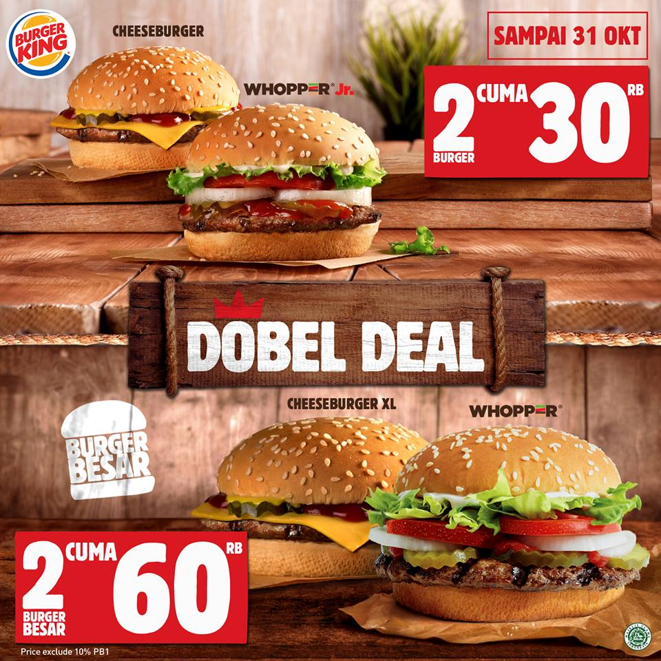 katalog promo burger king terbaru oktober 2018. Black Bedroom Furniture Sets. Home Design Ideas
