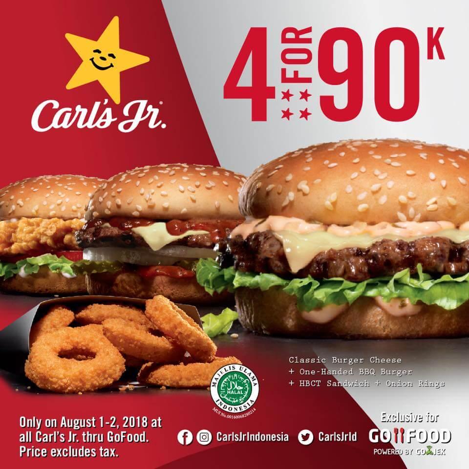 Harga Promo Carl's Jr Indonesia Terbaru