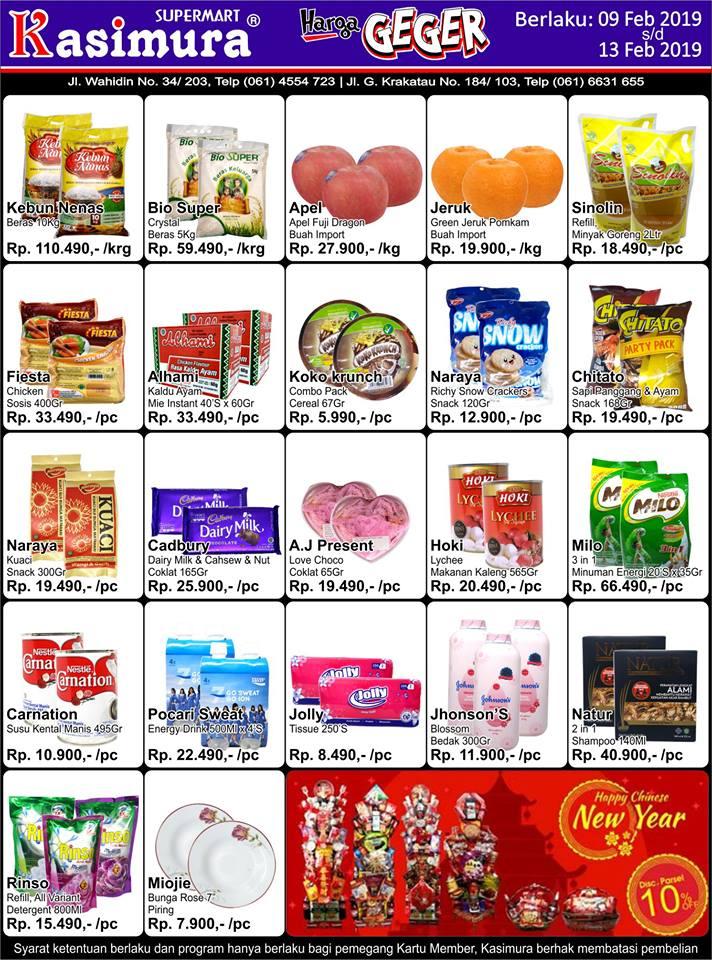 Katalog Promo Harga Geger Kasimura Supermart Terbaru 09 Feb 2019