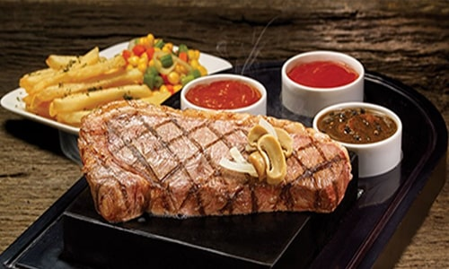 Harga menu Steak 21