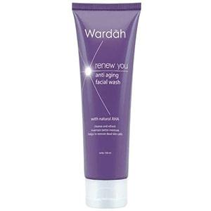 Wardah Renew You Anti Aging Facial Wash, Wardah untuk kulit berminyak