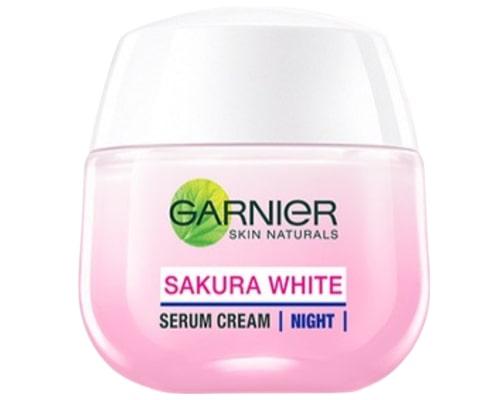 Garnier Sakura White Serum Night Cream Moisturizer